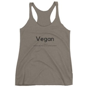 Vegan Women's Racerback Tank
