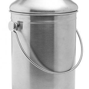 Stainless Steel Compost Bin 1.3 Gallon-Includes Charcoal Filter