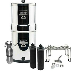 Berkey Filters Premium Stainless Steel Bundle: Black Filters, Stainless Steel Spigot,