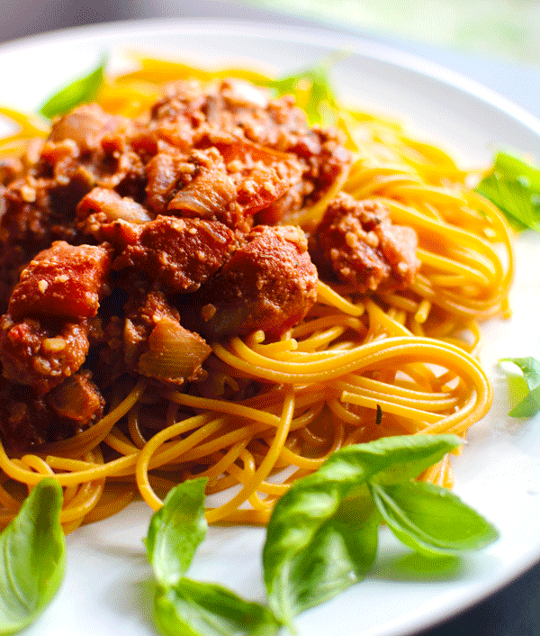 "Vegan Pasta Recipe w/ Walnut ""Meat"""