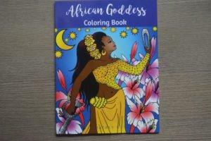 african goddess coloring book