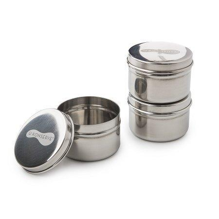 U Konserve Stainless Steel Mini Food Containers, Set of 3