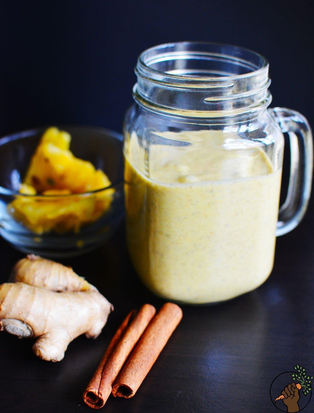 Mango Banana Coconut Milk Smoothie