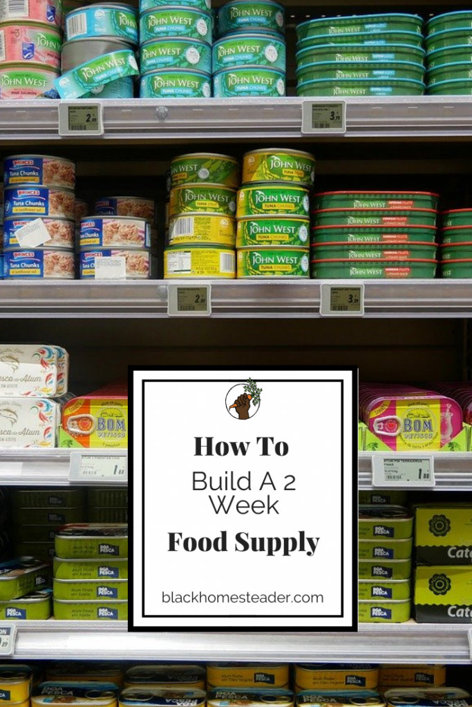 build a 2 week food supply